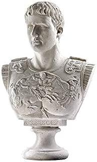 Design Toscano Caesar Augustus of Prima Porta Roman Bust Statue, 33 Inch, Fiberglass Polyresin, Sandstone