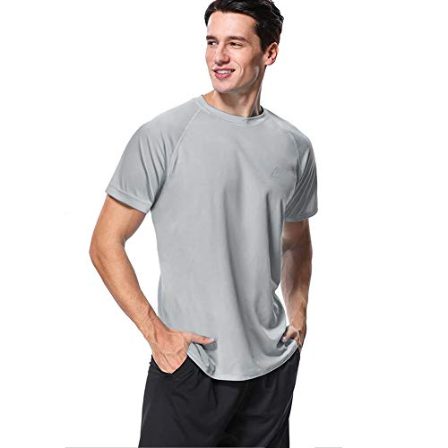 MeetHoo Rashguard Herren, UV Shirt Rash Vest UV-Schutz Schwimmshirt UPF 50+ Kurzarm für Surfen Schwimmen Running