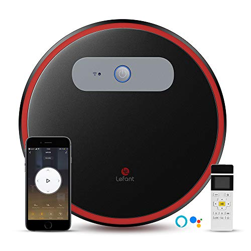 LEFANT M501-B Robot Vacuum Cleaner Wi-Fi Connected, Works with Alexa and Google, Self-Charging Robotic Vacuum Cleaners for Hardwood Floors, Pet Hair, Medium-Pile Carpets, Slim, Quiet, Powerful
