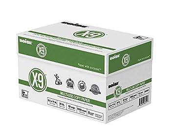 Boise R  X-9 R  Paper 8 1/2in x 11in 20 Lb Bright White 500 Sheets Per Ream Case of 10 Reams  2 CASES