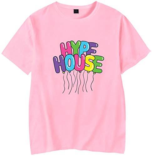 EMILYLE Hombre The Hype House Camiseta Tshirt Manga Corta Chula Interesante