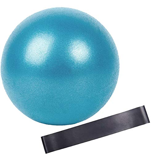 Slosy Kit Pilates Ball Small Blue + Elastic Straps Accessories Gym Ball Yoga Ball Gymnastics Training Material Crossfit Improves Resistance Muscle Building Rubber Band