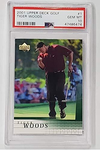2001 Upper Deck Tiger Woods Rookie RC Card #1 PSA 10 Gem Mint Clean!