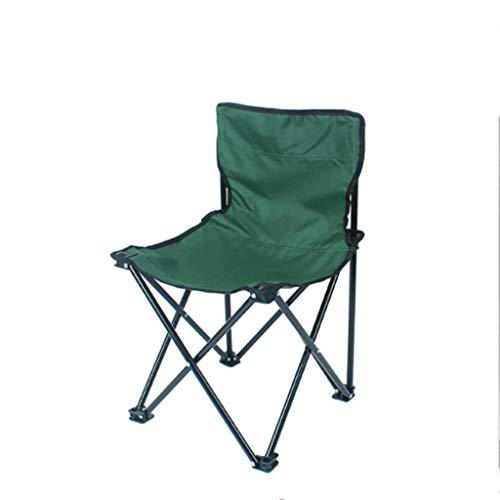WANG Chaise de Pliage extérieure Portable Chaise de pêche Simple Banc de Plage Directeur Chaise Camping Barbecue Chaise à Quatre Coins 4 Choix de Couleur (Couleur : Green)