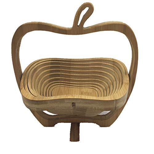 Cesta plegable de bambú con forma de manzana HAORONG