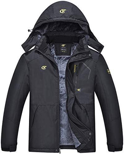QPNGRP Mens Waterproof Ski Snowboarding Jacket Winter Windproof Snow Coat Black Medium product image