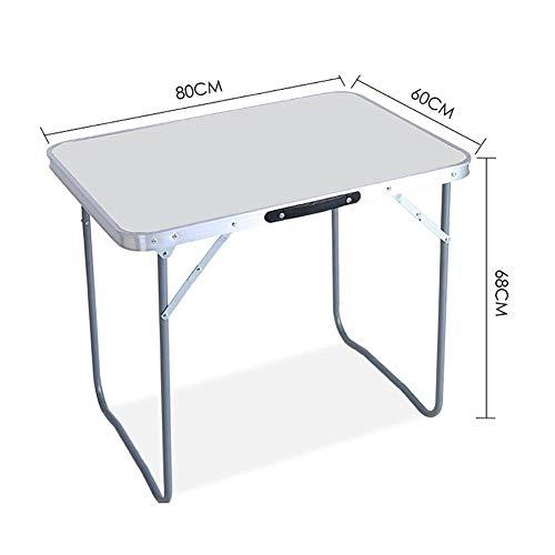 MENG 60x80cm multifunctionele tafel, klaptafel en stoel, draagbaar, duurzaam, eenvoudig design, ruimtebesparend, geschikt voor kantoor, outdoor, thuis Without stools wit