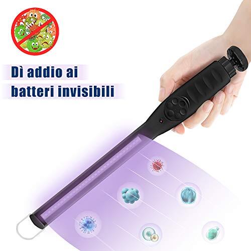 Lampada Germicida di Disinfezione UV, Lampada Disinfettante UV Portatile, Lampada Sterilizzatore UV Portatile per Bagno/Cucina/WC/Camera da Letto