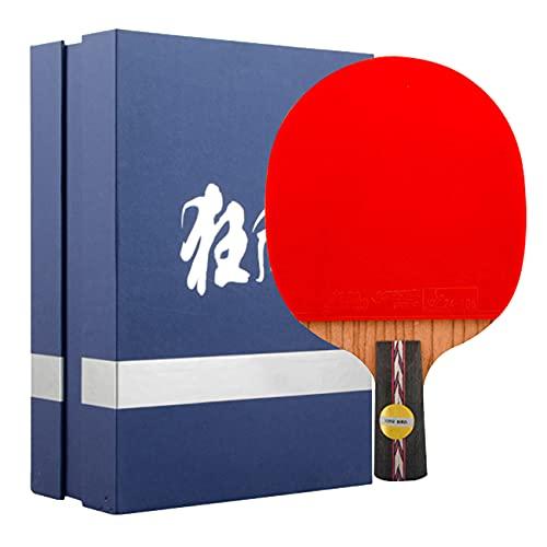 SGAIYUNRT Raqueta de Ping Pong de Ataque y Defensa, Rendimiento Integral de Cuchillas de Tenis de Mesa, Muestra/Mango Largo