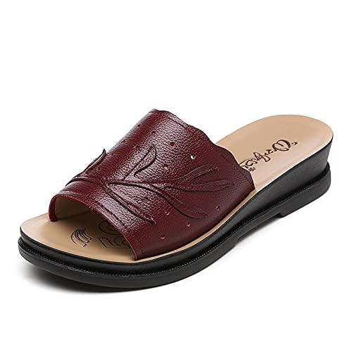 Kirin-1 Zapatillas De Casa para Mujer Verano,Zapatillas De Novia,El Cuero De Verano...