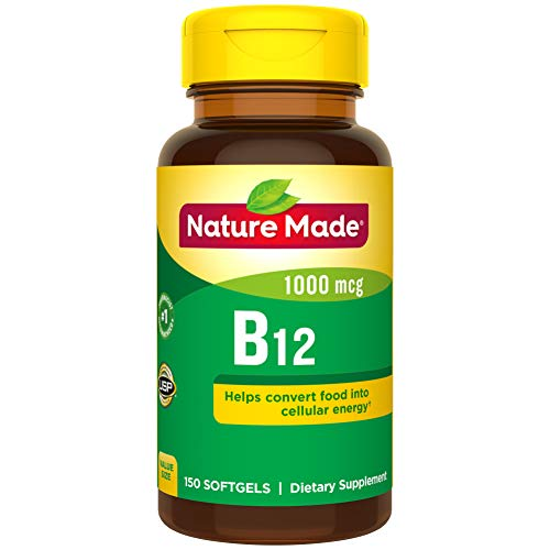 Nature Made Vitamin B12 1000 mcg Softgels, 150 Count Value Size (Packaging May Vary)