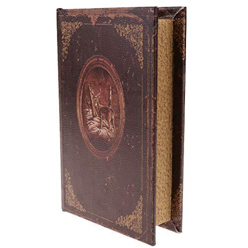 Fenteer Retro Boekvorm Houten Kist Boekenkist Boekenkast, Gemaakt Van Hout - Brown_A