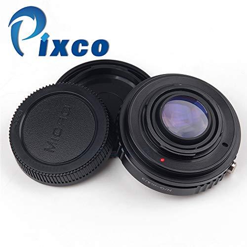 Pixco Adaptador de lente reductor focal para Nikon F Mount G a Micro Cuatro Tercios Cámara 4/3 Olympus OM-D E-M10 II E-M5 II E-M1 E-M5 E-M10 (Nikon.G-Micro4/3)