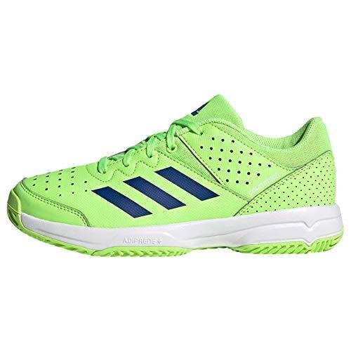 adidas Unisex-Kinder Court STABIL JR Handballschuhe, Versen/Azurea/Ftwbla, 35.5 EU