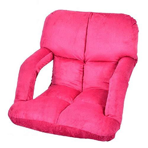 YLCJ zitzak voor woonkamer, stoelen, lounge, sofa, camping sofa, uitklapbare sofa, balkon, binnen, opvouwbaar, eenvoudig (kleur: rood/roze)