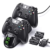 OIVO Controller Charger for Xbox One Controller, Charging Dock Station with 3 Packs 1200mAh Rechargeable Battery, OIVO Xbox One/S/X/Elite Controller Charger Dock Station- 3 Batteries Included
