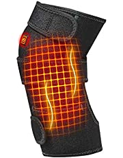 Rodillera calentada para calentar la rodillera, terapia térmica para el dolor de rodilla, artritis, calambres, alivio del dolor en las articulaciones, se adapta a hombres y mujeres
