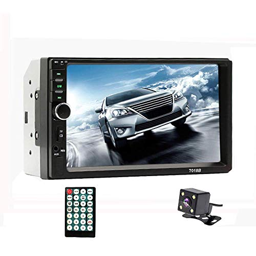 Podofo Double Din Car Stereo - Bluetooth Radio Receiver 7'' LCD Touch Screen MP3/USB/SD FM Audio/Radio Support iOS/Android Mirror Link Bluetooth Hands Free Calling