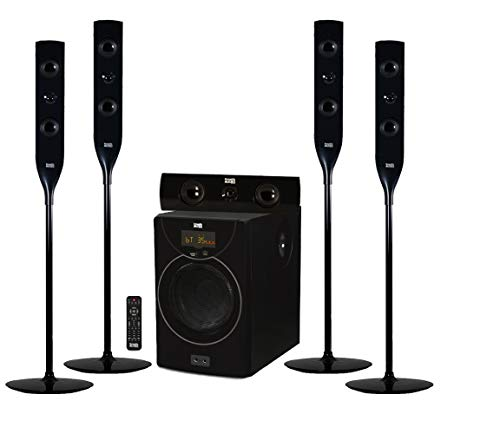 Lowest Price! Acoustic Audio AAT2004 Tower 5.1 Home Theater Bluetooth Speaker System with 8 Powered...