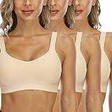 Sujetador Deportivo Confort para Mujer Sin Costuras Sin Aros con Relleno...