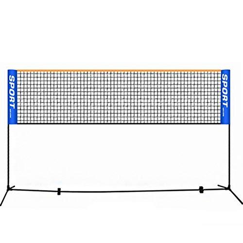 Badminton-Trainingsnetz Faltbare Einfach 3m / 4m / 5m / 6m Badmintonschläger Badmintonnetz Sports Net Geeignet für Innen- oder Außenplätze (Farbe : Blue, Size : 5m)
