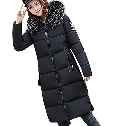 Bekleidung Loveso Damen Mantel Daunenjacke Übergangsjacke Winterjacke Boy Hour Chaos Herbst Winter Mode Frauen Daunenmantel Wintermantel Winterparka (Schwarz, XL)