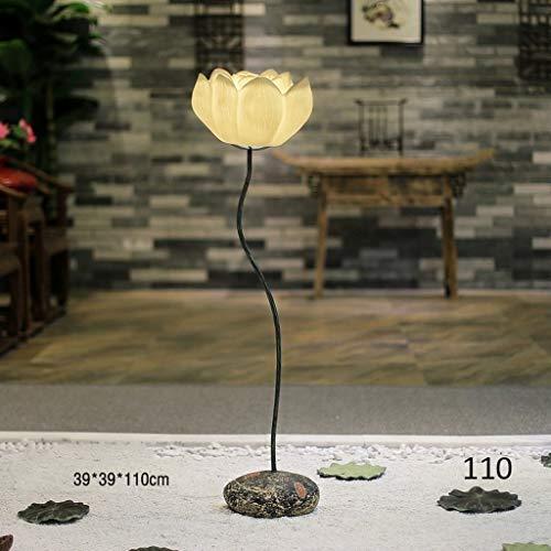 Jkckha Lámparas de pie, Led creativo Lotus vertical Lámpara de piso, Habitación Sala simple planta de aterrizaje luz moderna mesa de centro Sofá Decoración Lámpara de piso, Eye-El cuidado de luz verti
