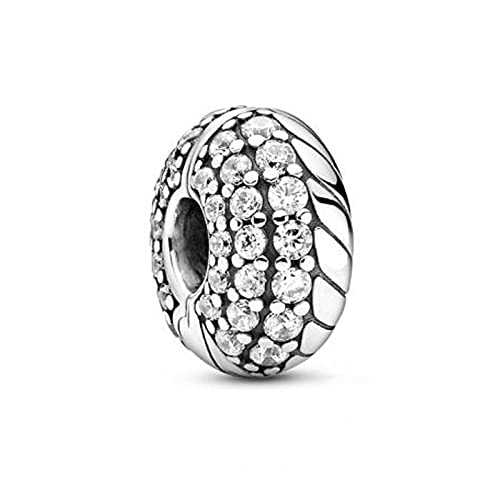 LISHOU Se Adapta A La Pulsera Pandora Argent Charm 925 Sterling Silver Pavé Snake Bone Posicionamiento Charms Beads para DIY Women Jewelry Making