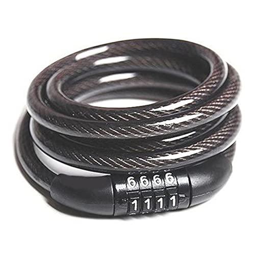 CAIFEIYU Nuevo Bloqueo de neumáticos de neumático de Cable antirrobo con Cables de Alambre de Acero para Xiaomi MIJIA M365 Ninebot ES1 ES2 Scooter eléctrico Scooter (Color : Black)