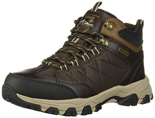 Skechers Men's SELMEN-TELAGO LACE UP Boot Hiking, Chocolate, 7.5 Medium US