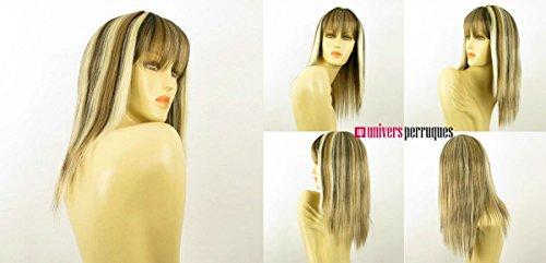 perruque femme mi-longue blond clair méché cuivré clair et chocolat lisse ref: abby 15613h4