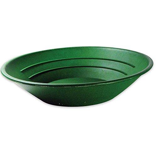 SE GP1001G, Batea de plástico para buscar oro, con dos tipos de riffles, Verde (Green), 10 pulgadas (25.40 cm)