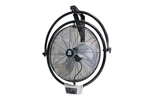 VDC Ventilatore industriale da parete e soffitto, 120 W, con timer fino a 7,5 h e telecomando