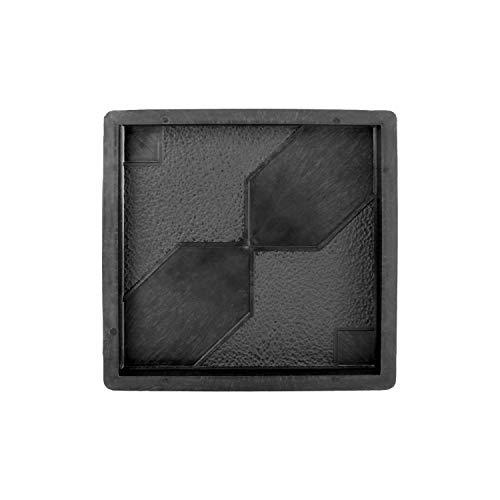 @tec Betonform Schalungsform Gießform Plastikformen für Beton, Pflastersteine, Terrassenplatten, Trittplatten, Bodenplatten und Gehwegplatten mit Sanduhr-Muster für Garten 30x30x3cm