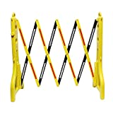 BISupply Folding Barricade – 8 Ft Portable Road Safety Barriers with Reflectors, Construction Barricade Safety Fence