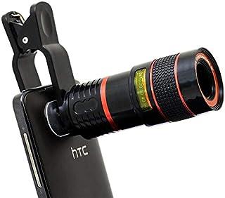عدسات كاميرا تليسكوب بصري 8x تكبير 8x لهاتف iPhone 4 5 6 7 8 Plus Samsung S3 S4 S5 Note 4 5 6 - أسود