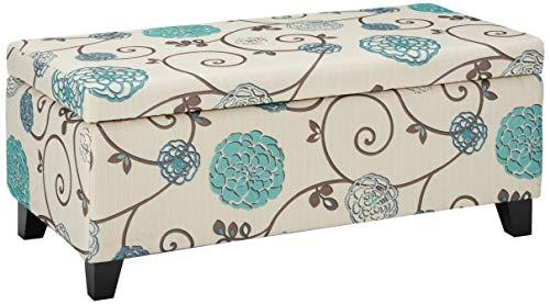 Brenway Pattern Fabric Storage Ottoman