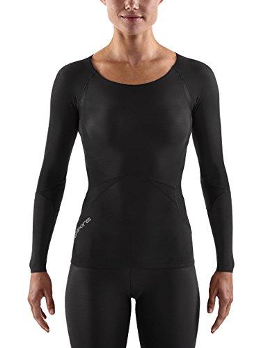 SKINS Lang Arm Top RY400 Long Sleeve - Camiseta de compresión de Running para niño, Color Negro, Talla l