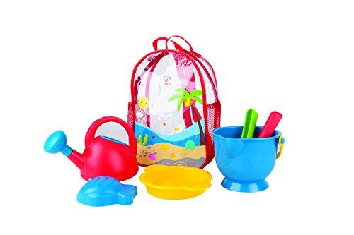 Hape E8178 - Strandrucksack inkl. Grundausstattung, Strandspielzeug/Sandspielzeug, mehrfarbig