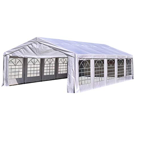 Quictent 20'x32' Upgraded Galvanized Heavy Duty Gazebo Party Tent Wedding Canopy Carport Shelter with Carry Bags