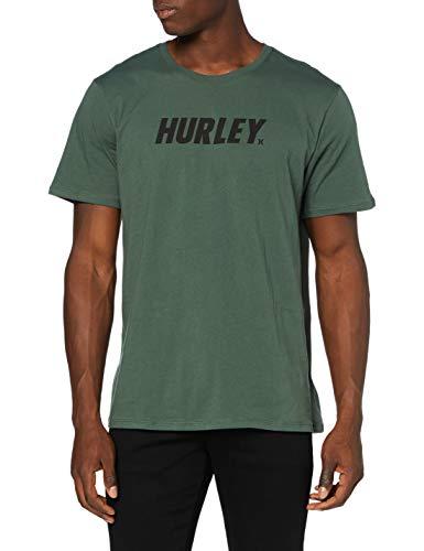 Hurley M Fastlane S/S Camiseta, Hombre, Vintage Green/Light Bone, S