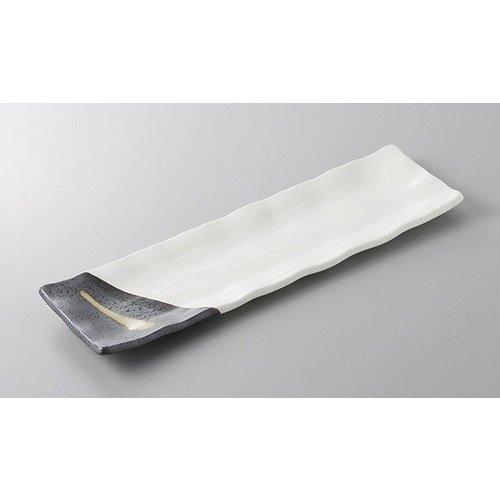 あゆ・さんま皿 塗分け流しサンマ皿 [33.5 x 10 x 2cm] 料亭 旅館 和食器 飲食店 業務用