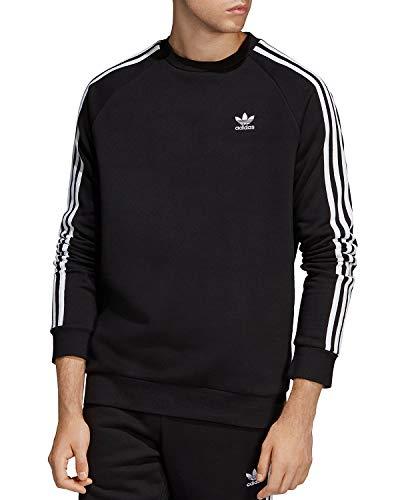 adidas Originals Men's 3-Stripes Crew, black, X-Small