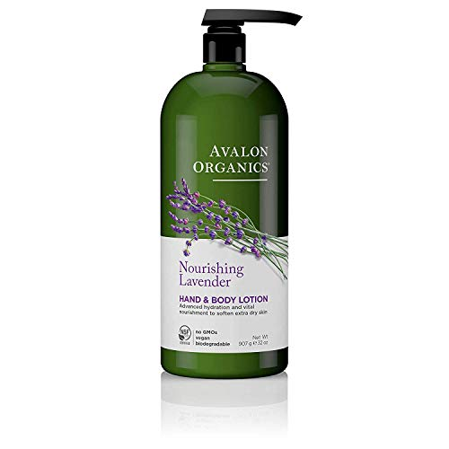 Avalon Organics Hand & Body Lotion, Nourishing Lavender, 32 Oz