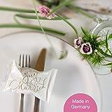 WeddingTree 60 x Glückskekse Hochzeit einzeln verpackt - Glückskekse mit Sprüchen deutsch - Gastgeschenk für Hochzeit und Verlobung - Made in Germany - 2