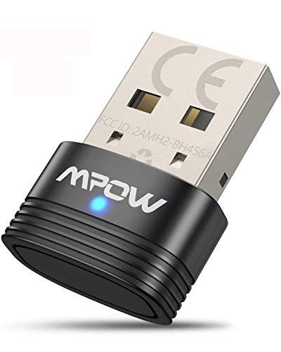 Mpow Bluetooth 5.0 USB Adapter, Bluetooth USB Dongle Stick, Bluetooth Empfänger und Sender für Desktop, Laptop, Drucker, Headset, Lautsprecher, kompatibel mit Windows 7 / 8.1 / 10