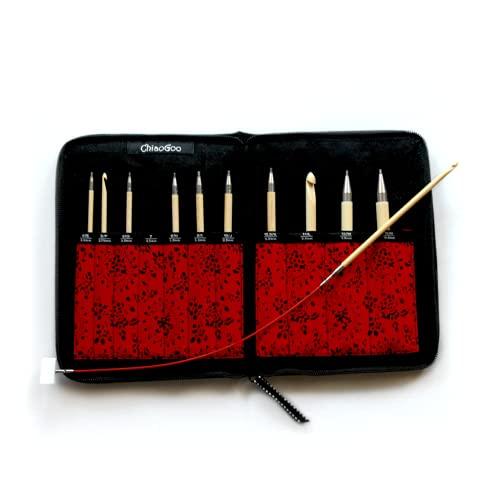 ChiaoGoo T-Spin Bamboo 5.7 inch (14.5 cm) Tunisian Crochet Hook Set