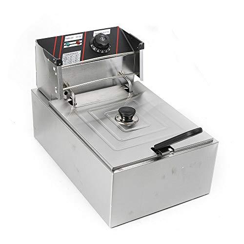Freidora eléctrica (5,5 L), freidora profesional de acero inoxidable comercial restaurante