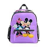 Kinder-Rucksack für Vorschule, für Jungen und Mädchen, leicht, für 1–6 Jahre, perfekter Rucksack für Kleinkinder im Kindergarten, Minnie Kissing Mickey Mouse, Violett