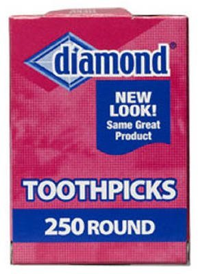 Diamond Round Toothpicks Pack of 250 3